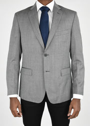 Grey Herringbone Wool Sport Coat