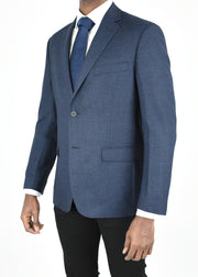 Blue/Black Houndstooth Wool Sport Coat