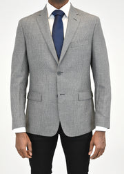 Grey/Black Houndstooth Wool Sport Coat