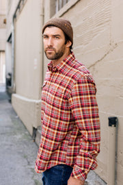 Sunesta Long Sleeve Check Button Up Flannel Shirt