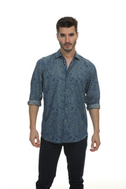 Pawan Print Long  Sleeve Regular Fit  Shirt