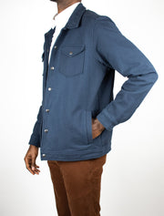 Dean Stretch Fleece Knit Collared Jacket