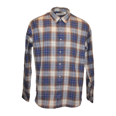 Freddler Regular Fit Plaid Flannel Shirt - Brown
