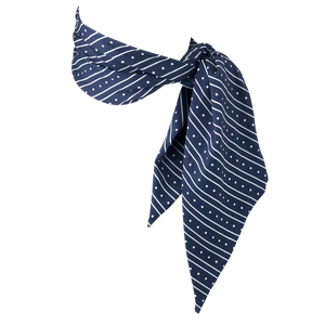 Cooling Scarf Navy Stripes Polka Dots