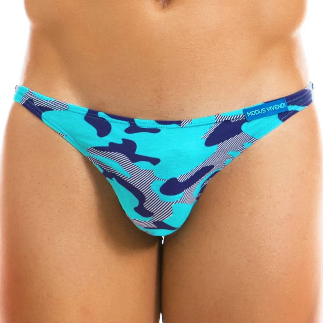 Camo Low Cut Brief - Aqua - Modus Vivendi - trender-wear.myshopify.com