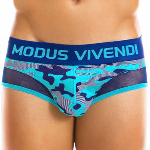 Camo C-Through Brief - Aqua - Modus Vivendi - trender-wear.myshopify.com