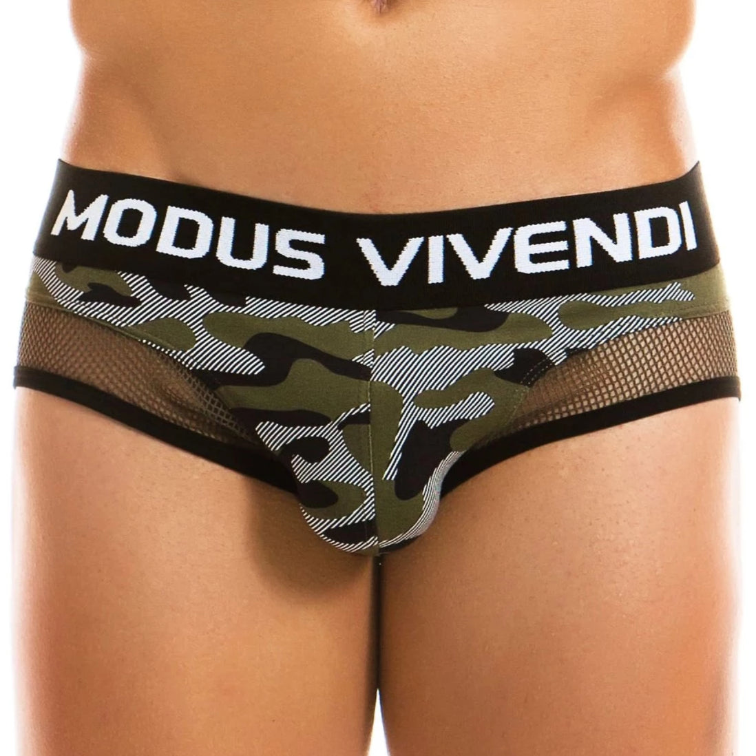 Camo C-Through Brief - Khaki - Modus Vivendi - trender-wear.myshopify.com