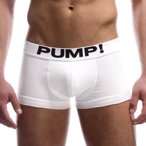 Classic Boxer - White Front by PUMP! Underwear at Trenderwear.com