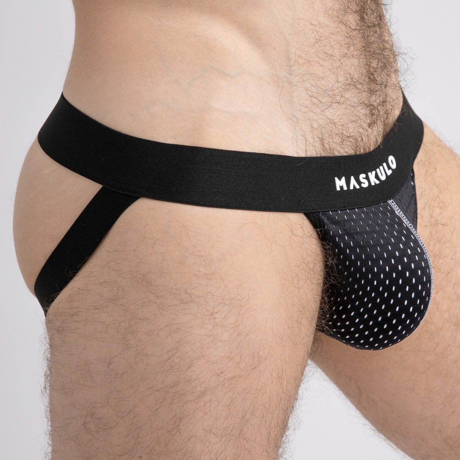 Dual Layer Mesh Jock - White