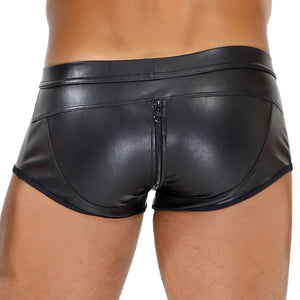 Full Zip Fetish Boxer - Black