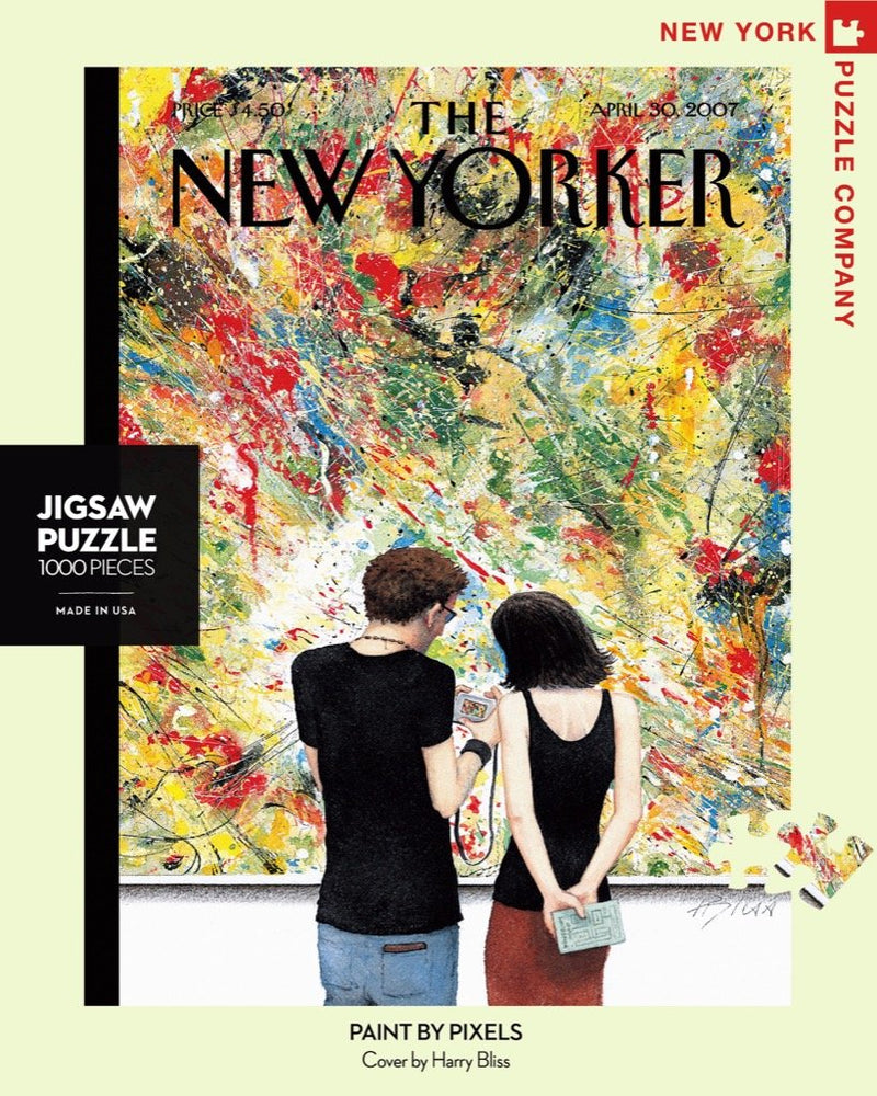 The New Yorker Cover Paint by Pixels 1000 piece Jigsaw Puzzle