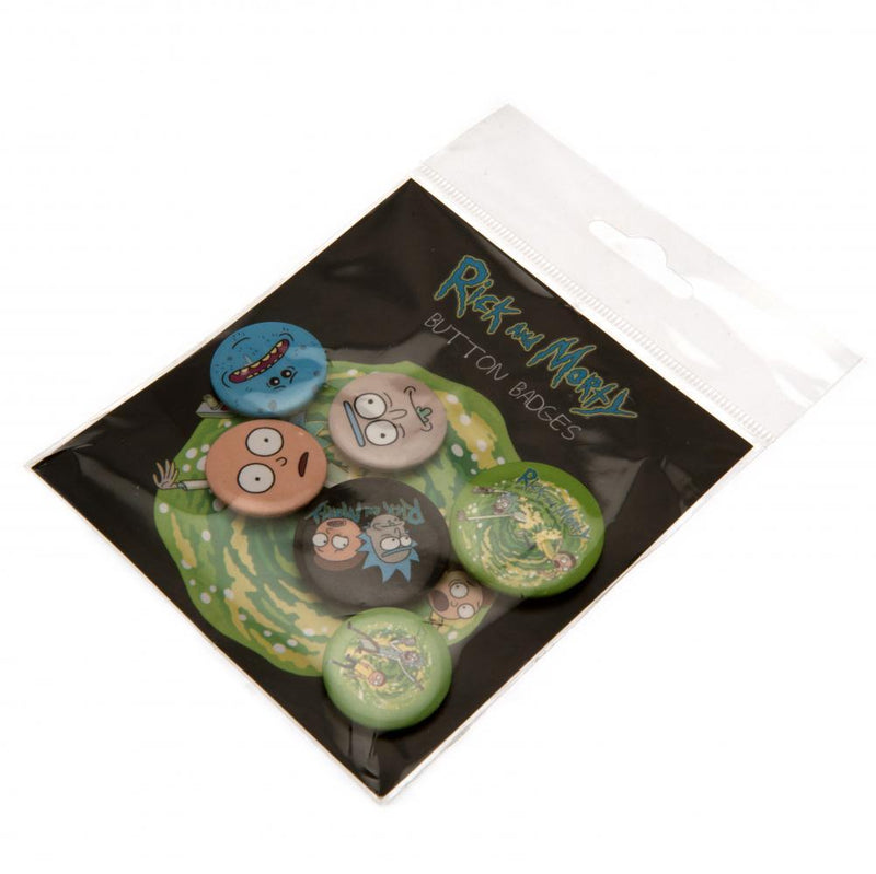 Rick And Morty Button Badge Set