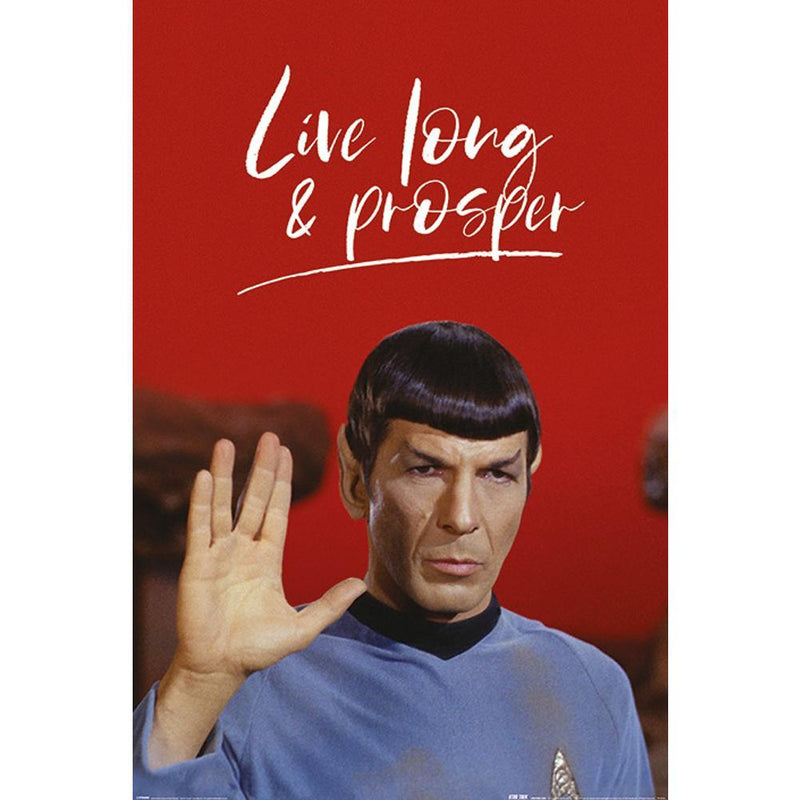 Star Trek Poster Live Long and Prosper 103 - Olleke | Disney and Harry Potter Merchandise shop