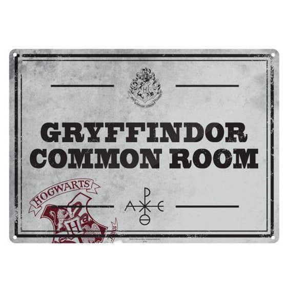 Harry Potter metalen bord 'Common Room' Olleke | Disney and Harry Potter Merchandise shop Harry Potter