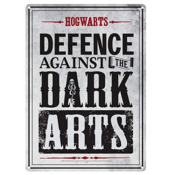 Decoration - Harry Potter Metalen Bord 'Dark Arts'