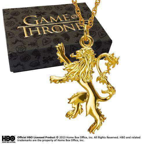 Lannister Pendant Gold Plated Sterling Silver - Olleke | Disney and Harry Potter Merchandise shop