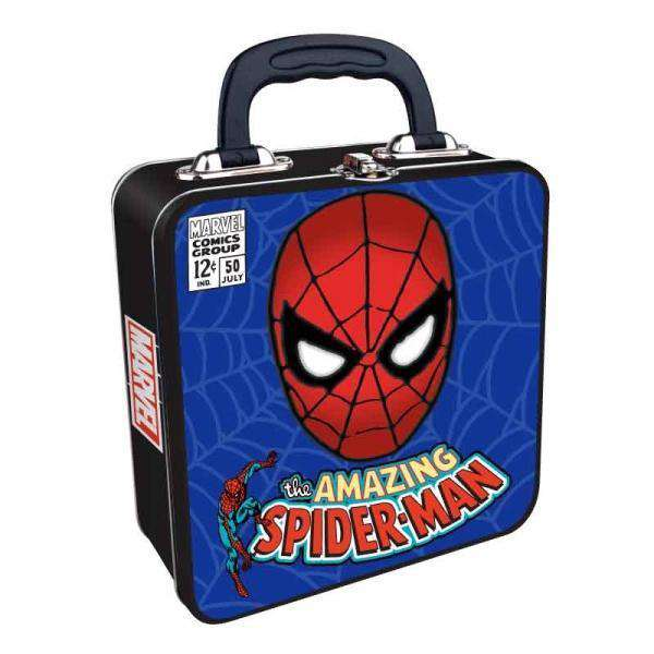 Marvel Embossed Tin Tote - Spider-Man - Olleke | Disney and Harry Potter Merchandise shop