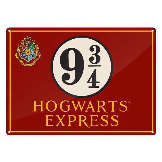 Tin Sign Small - Harry Potter (Hogwarts Express) Olleke | Disney and Harry Potter Merchandise shop Harry Potter