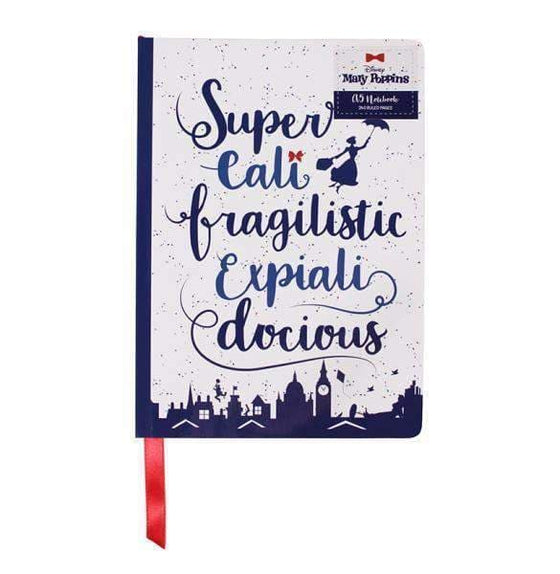 Fairytales & Icons - Mary Poppins A5 Notebook - Supercalifragilisticexpialidocious