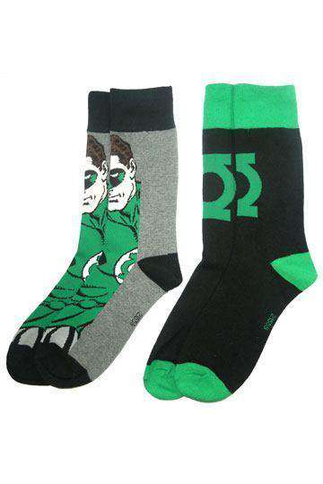 DC Comics Mens Socks 2-Pack Green Lantern - Olleke | Disney and Harry Potter Merchandise shop