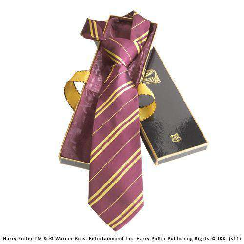 Gryffindor House Tie in Madam Malkin's Box Olleke | Disney and Harry Potter Merchandise shop The Noble Collection