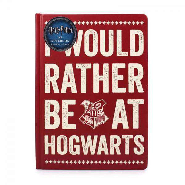 Harry Potter A5 Notebook - Rather Be At Hogwarts - Olleke | Disney and Harry Potter Merchandise shop