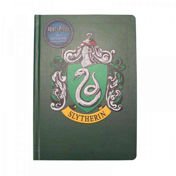 Harry Potter A5 Notebook - Slytherin Crest - Olleke | Disney and Harry Potter Merchandise shop