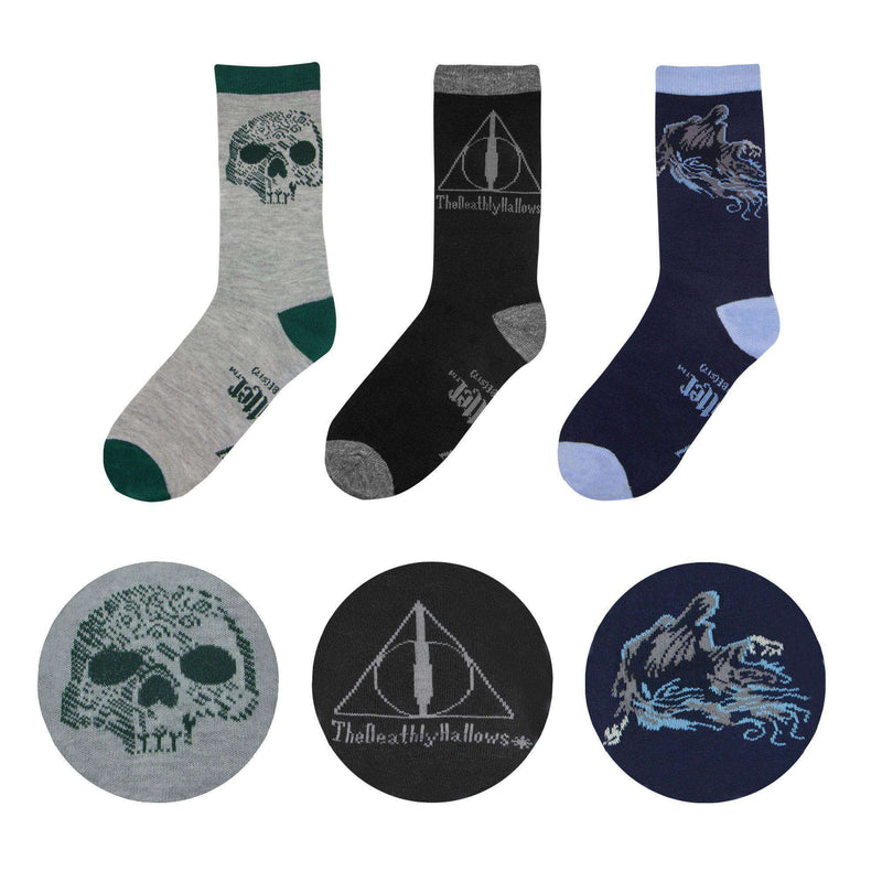 Harry Potter Socks 3-Pack Deathly Hallows - Olleke | Disney and Harry Potter Merchandise shop
