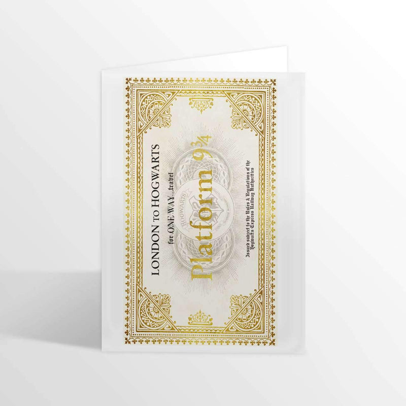 Hogwarts Express Ticket Foiled Notecard - Olleke | Disney and Harry Potter Merchandise shop