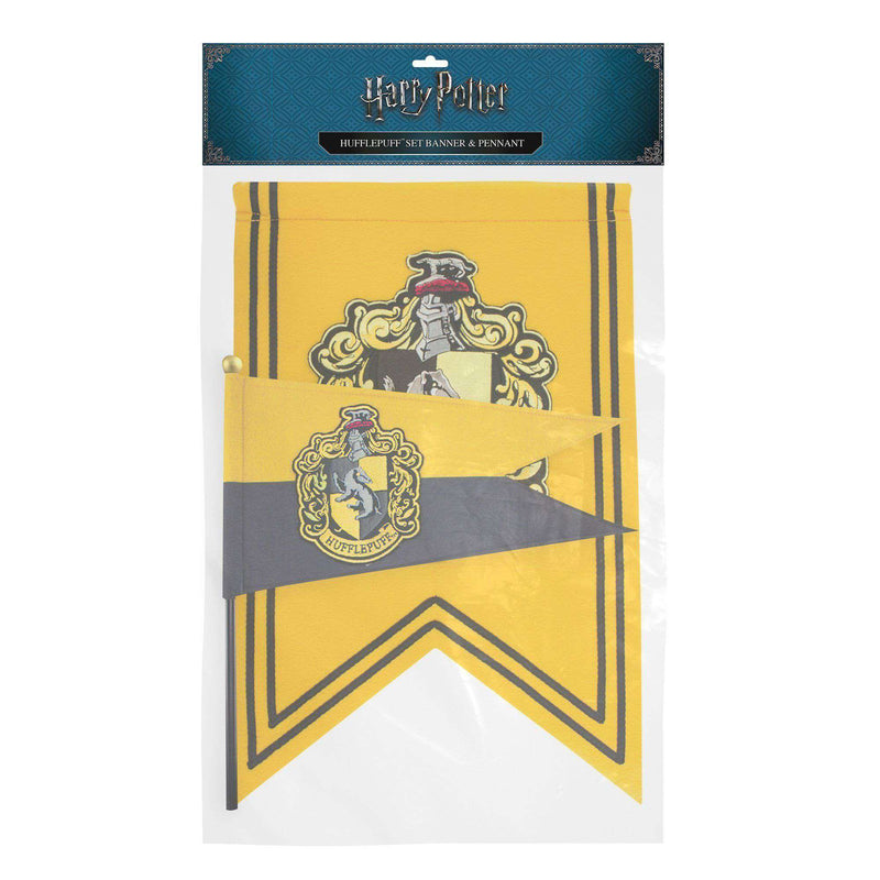 Hufflepuff Banner & Flag Set - Olleke | Disney and Harry Potter Merchandise shop