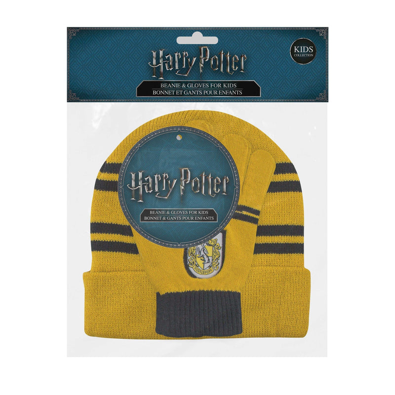 "Kids Hufflepuff set : Screentouch ""Magic Touch"" Gloves + Beanie - Olleke 