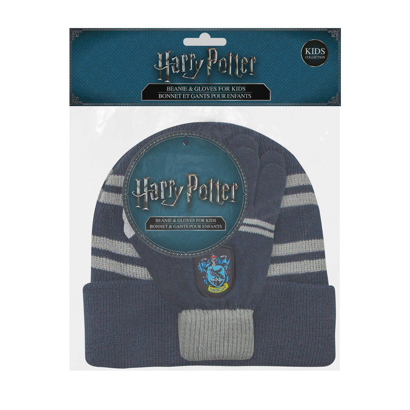 "Kids set Ravenclaw : Screentouch ""Magic Touch"" Gloves + Beanie - Olleke 