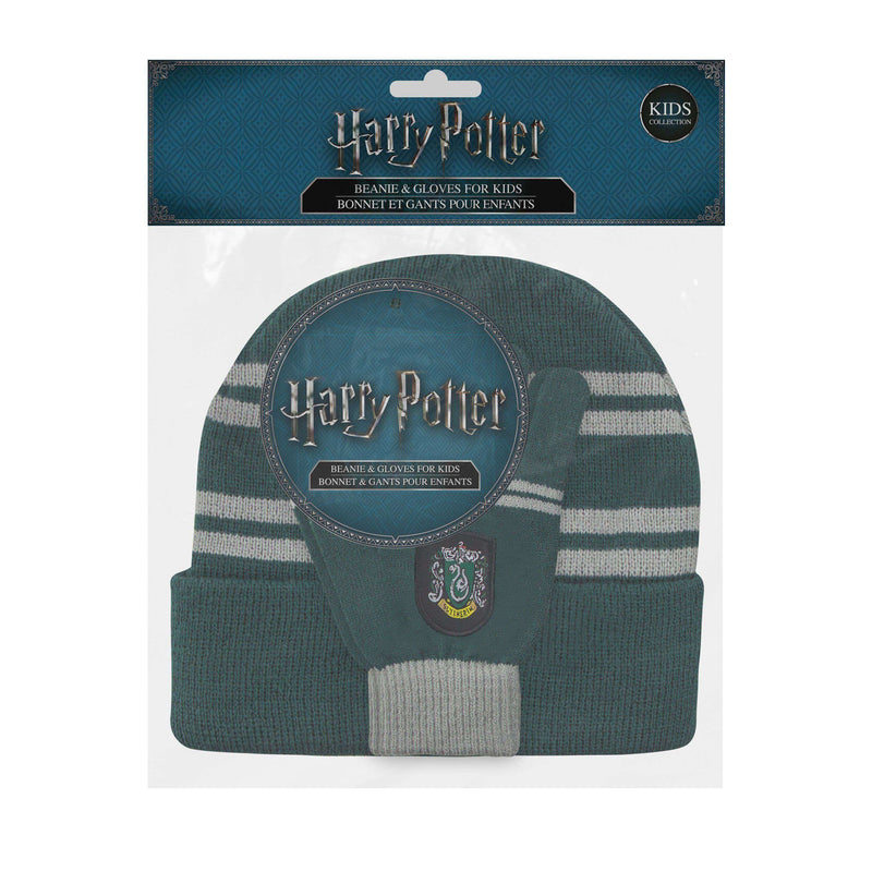 "Kids set Slytherin : Screentouch ""Magic Touch"" Gloves + Beanie - Olleke 