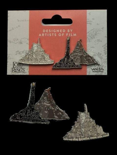Films & Series - Lord Of The Rings Collectors Pins 2-Pack Minas Tirith & Mt. Doom