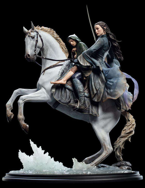 Films & Series - Lord Of The Rings Statue 1/6 Arwen & Frodo On Asfaloth 40 Cm