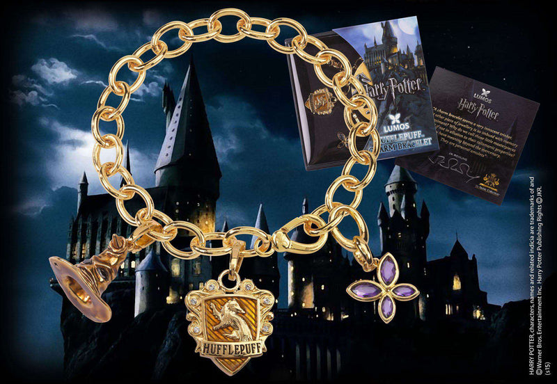 Lumos Hufflepuff Charm Bracelet Olleke | Disney and Harry Potter Merchandise shop The Noble Collection
