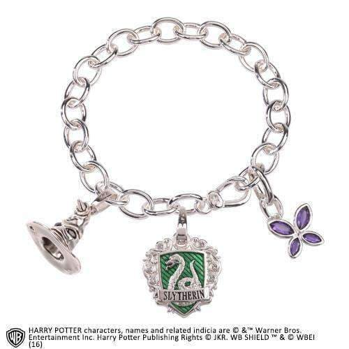 Lumos Slytherin Charm Bracelet - Olleke | Disney and Harry Potter Merchandise shop