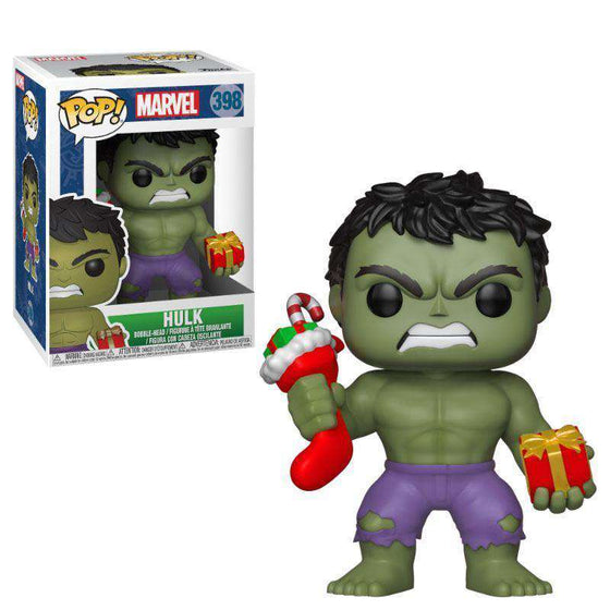 Marvel Comics POP! Marvel Holiday Vinyl Bobble-Head Hulk (Stocking & Plush) Olleke | Disney and Harry Potter Merchandise shop Funko