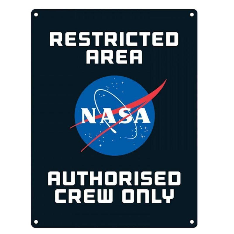 NASA Restricted Area A5 Steel Sign Tin - Olleke | Disney and Harry Potter Merchandise shop