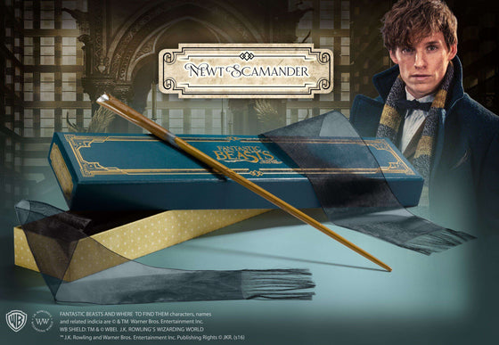 Films & Series - Newt Scamander's Wand In Collector's Box