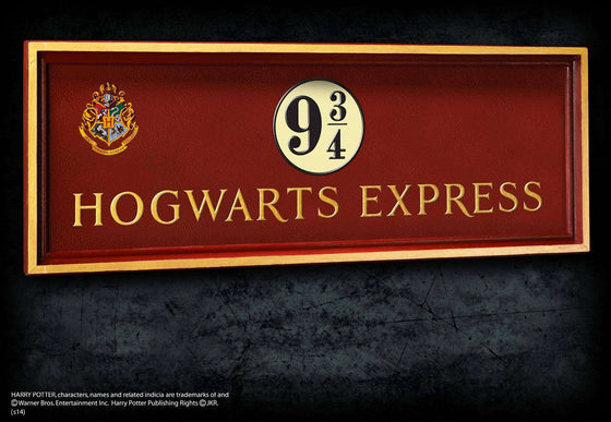 Platform 9 3/4 Sign Olleke | Disney and Harry Potter Merchandise shop The Noble Collection