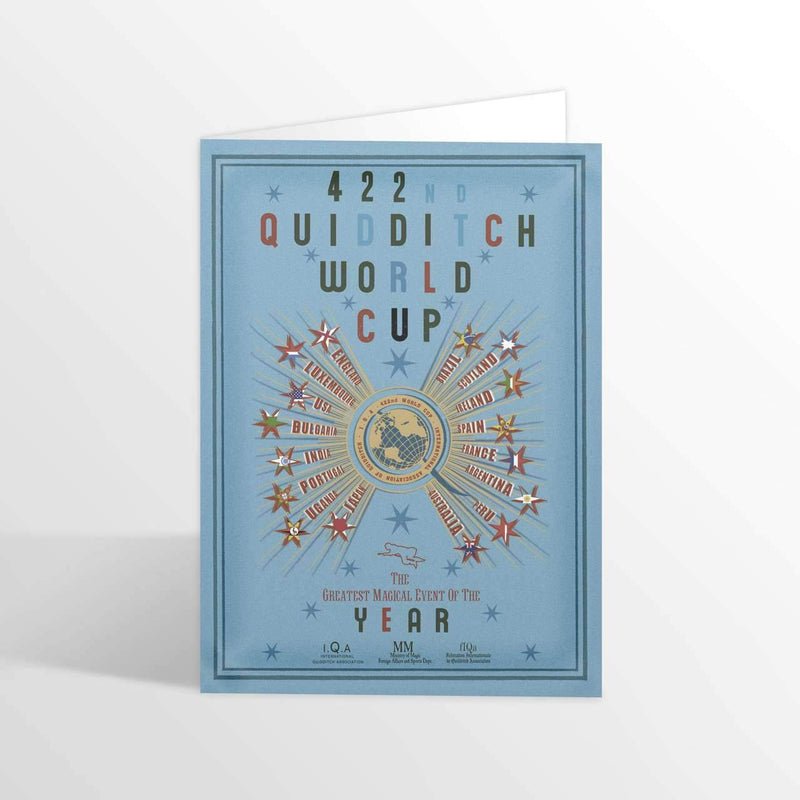 Quidditch World Cup Foiled NoteCard - Olleke | Disney and Harry Potter Merchandise shop