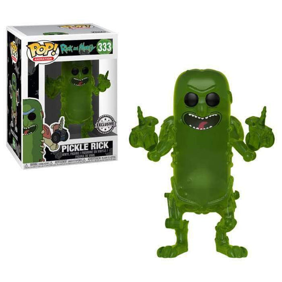Films & Series - Rick & Morty POP! Translucent Pickle Rick (Exclusive)