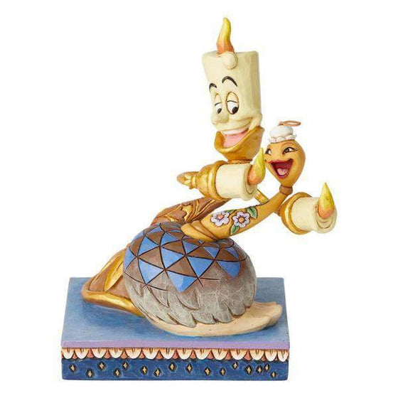 Romance by Candlelight (Lumiere and Feather Duster Figurine) Olleke | Disney and Harry Potter Merchandise shop Enesco