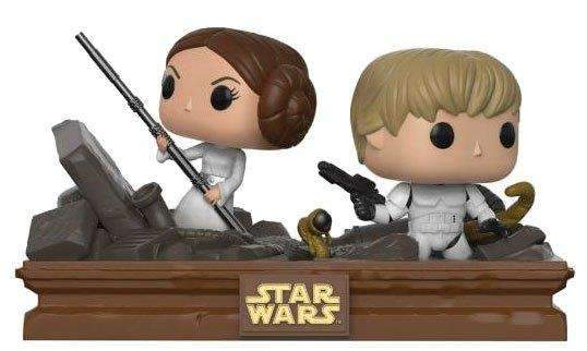 Films & Series - Star Wars POP! Movie Moments Vinyl Bobble-Head 2-Pack Trash Compactor Escape Luke & Leia (Exclusive)