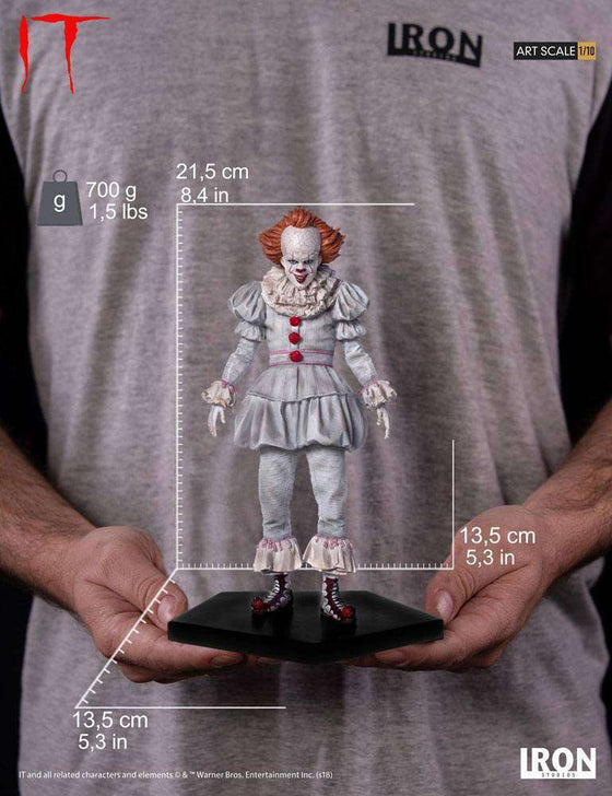 Stephen King's It 2017 Art Scale Statue 1/10 Pennywise 22 cm Olleke | Disney and Harry Potter Merchandise shop vendor-unknown