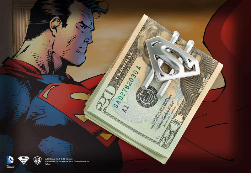 Superman Returns Shield Money Clip Gun Metal Olleke | Disney and Harry Potter Merchandise shop The Noble Collection