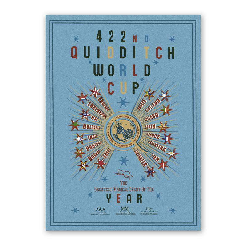 The 422nd Quidditch™ World Cup Poster - Olleke | Disney and Harry Potter Merchandise shop