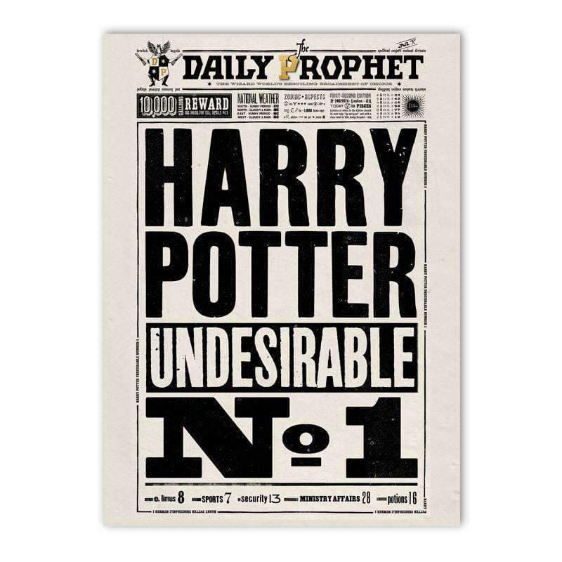 The Daily Prophet™ - Undesirable No.1 Poster - Olleke | Disney and Harry Potter Merchandise shop