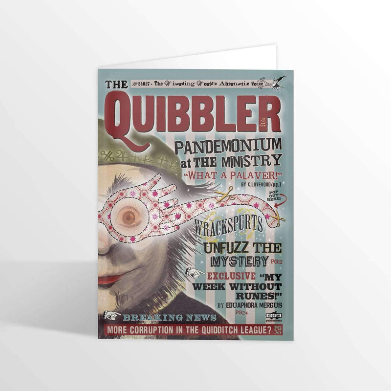 The Quibbler - Spectrespecs Foiled NoteCard - Olleke | Disney and Harry Potter Merchandise shop